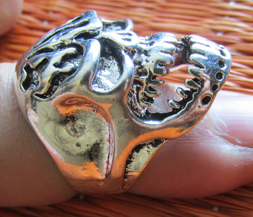 Inel Rebel Ring Flaming Skull