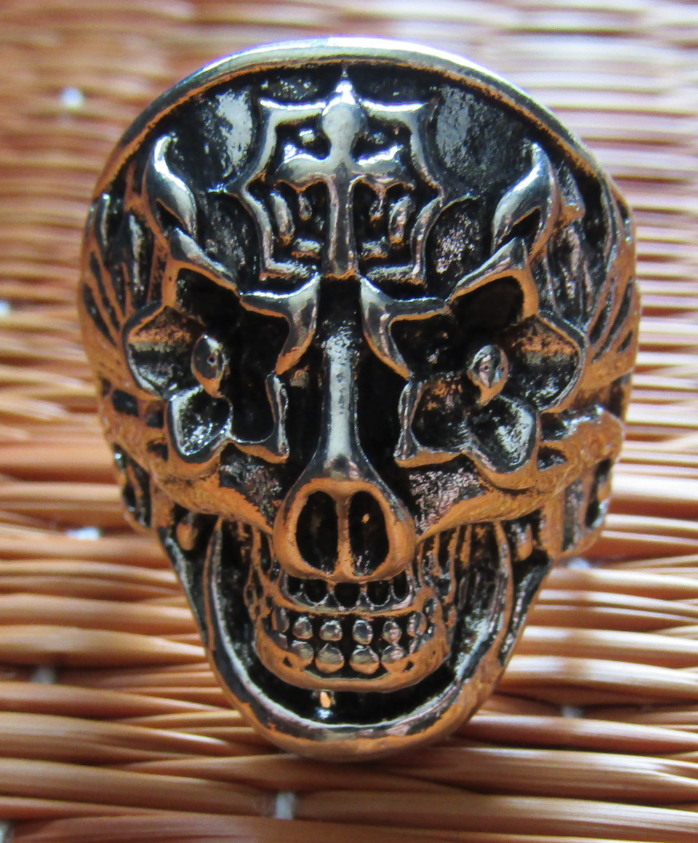 Inel Rebel Ring Skull with Cross