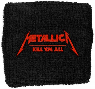 Manseta brodata Metallica Kill em all