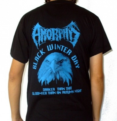 Tricou AMORPHIS Black Winter Day (SUPERPRET)