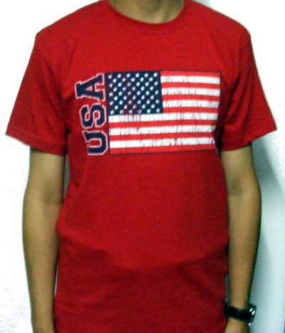 Tricou rosu USA Flag