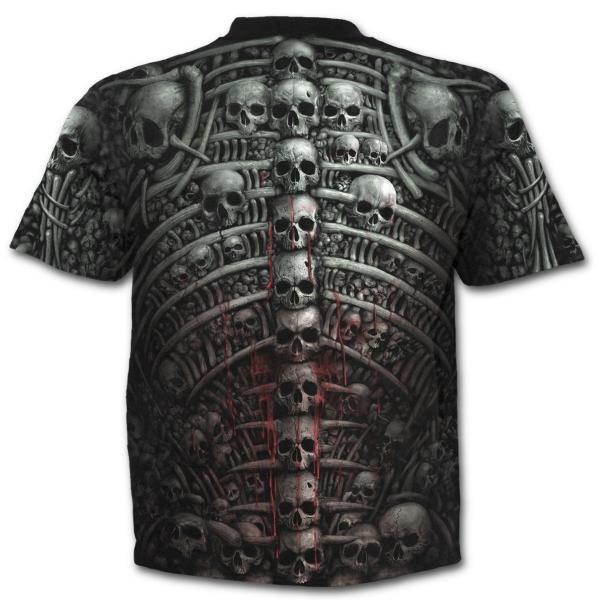 Tricou W027M105 - DEATH RIBS Allover print