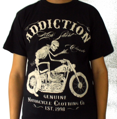 Tricou ADDICTION Genuine Motorcycle Clothing Co TR/JV/A327