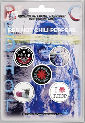 Set 5 insigne Red Hot Chili Peppers - By The Way