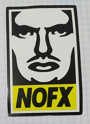 Sticker (abtibild) NOFX Face (JBG)